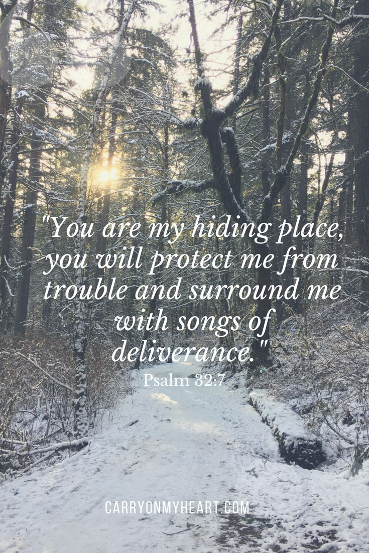 Jesus Christ is our hiding place. carryonmyheart.com