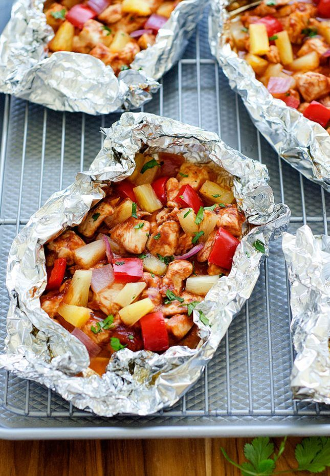 Foil packets are a great way to prepare dinner over a fire.