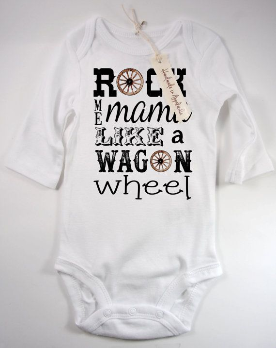 Country Music Baby Onesie Wagon Wheel Old Crow Cool by Millwell