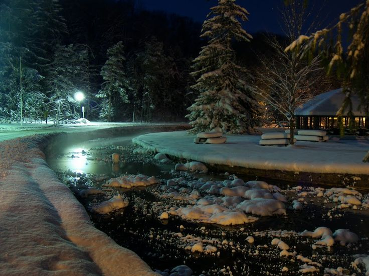 Another winter night scene at Harrison Park...Breathtaking