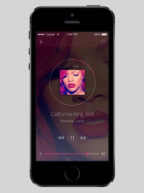 Music player app design