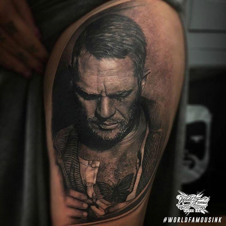 Steve McQueen by Sponsored Artist @ashlewistattoo using #worldfamousink  #tattoo #tattoos #tattooed #tattooart #tattoolife #tattooink #tattooartist #tattooist #bodyart #artist #ink #inked #inkedlife #inkstagram #inklife #amazingink #inkedup #veganink #tatttoosofig #tattoartists #tatuaje #tatuaggio #tatouage #tatuaz #worldfamoustattooink #worldfamousforever #纹身