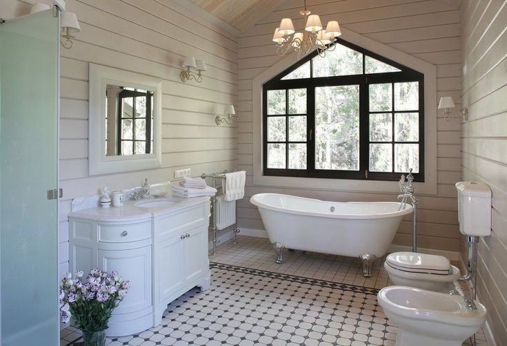 Фотография: Ванная в стиле Кантри, Дом, Проект недели, Московская область, дом…