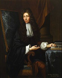 Robert Boyle, FRS, (25 January 1627 – 31 December 1691) was an Irish 17th-century natural philosopher, chemist, physicist, and inventor. Boyle is largely regarded today as the first modern chemist, and therefore one of the founders of modern chemistry, and one of the pioneers of modern experimental scientific method. He is best known for Boyle's law,