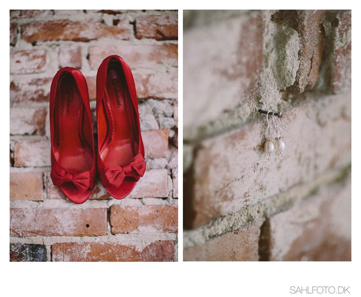 Wedding shoes and earrings