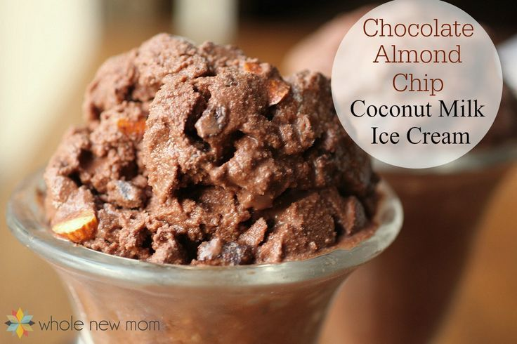 If you or someone you love has a dairy allergy, I'm sure they miss ice cream. This Chocolate Almond Chip Coconut Milk Ice Cream tastes great and is so much cheaper than store bought dairy free ice creams. Vegan ice cream at its best.