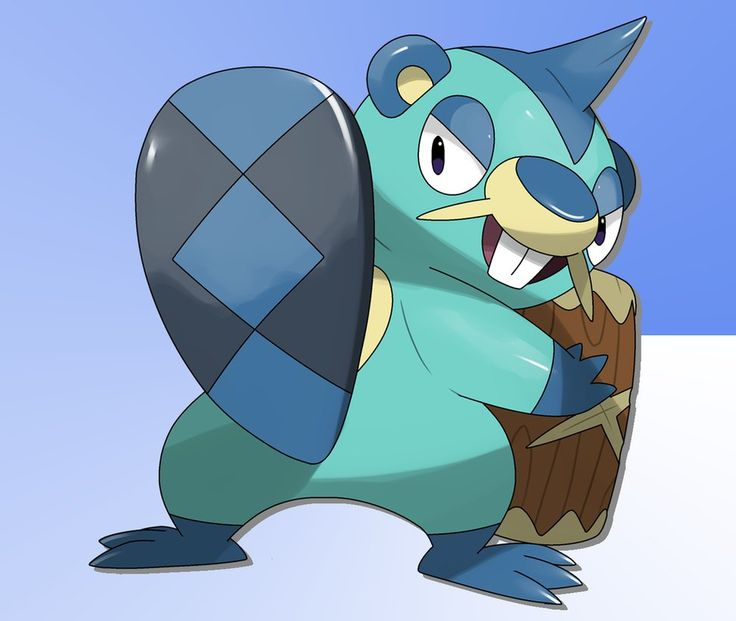 Name:Beachew (Bee-ch-u) Beaver Pokemon Type:Water Description:Beachew have strong and powerful teeth that it uses to demolish trees and even chisel stone. They carry around a log ...