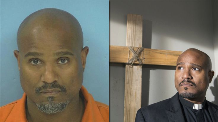 Seth Gilliam (left: Fayette County Sheriff's Department; right: Gene Page/AMC)