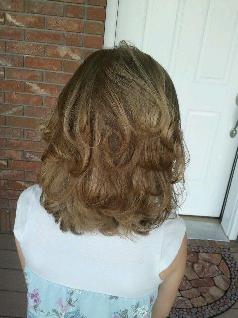 I like this! I just wish my hair was this healthy Looking when long! Short layered Hair cut with end curls