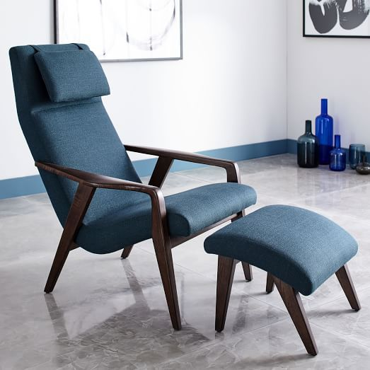 Media Room - option to replace recliner  Contour Mid-Century Chair | west elm