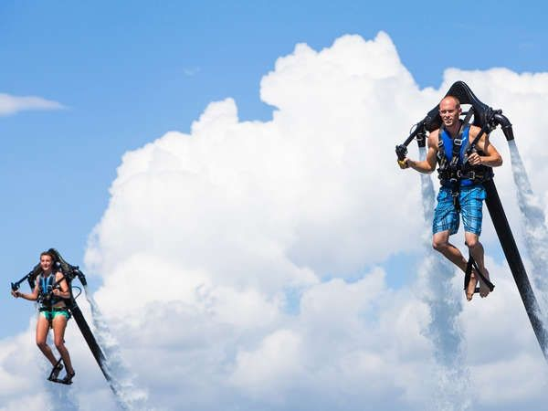 56% savings: Smoothly climb, dive, and hover with amazing stability with one of the jetpacks or flyboards from the famous Tiki Bar in the...