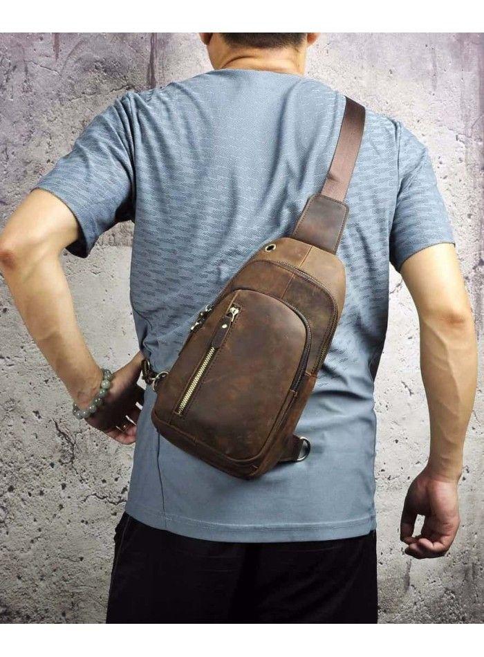 3b82d20e8304 Мужская сумка-рюкзак Tiding Bag M37-XB9012C Коричневая | Мужская кожаная  сумка планшетка | Bags, Backpacks и Sling backpack