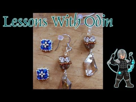Simple Bead Caps Beaded Jewelry Tutorial - Lessons With Odin - YouTube