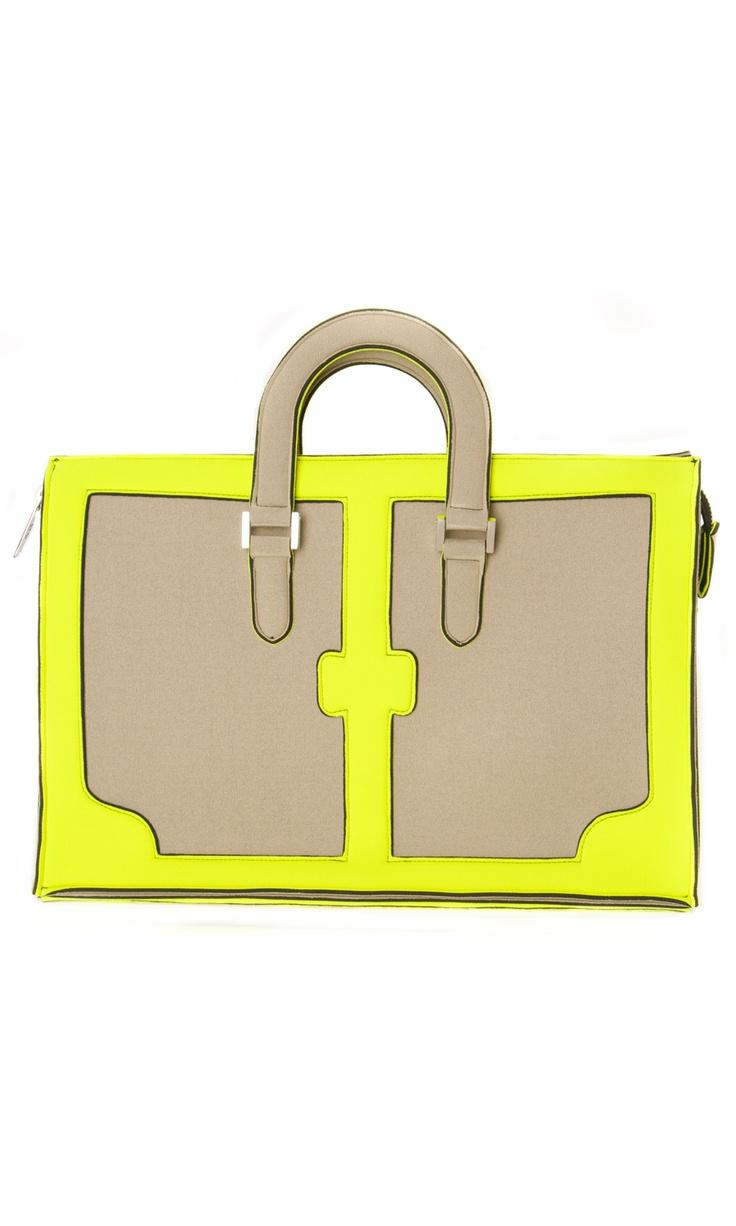 Leghilà Bi-color neoprene GBag - Yellow & Beige #bag