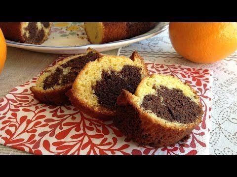 Muy Locos Por La Cocina: Bizcocho Marmolado de Naranja y Chocolate