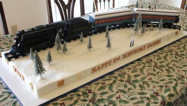 polar express snow cake