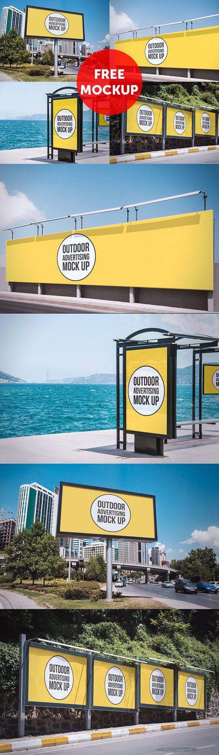 Free PSD: Outdoor Advertising Mockup by Mucahit Gayiran #mockup #psd