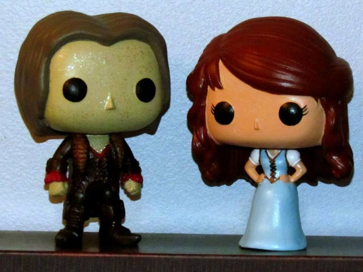 Custom once upon a time rumplestiltskin belle funko pops by