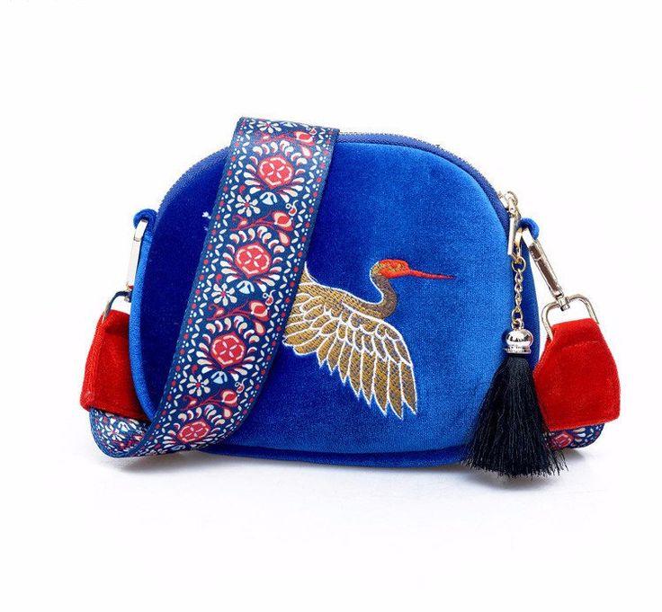 Velour Flap Cross body Bags For Girls Shoulder Bags Vintage Handbags – Hand Pick Style