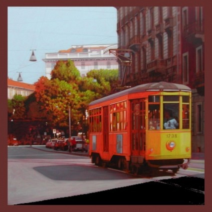 The old orange tram are among the best-known symbols of Milan. The cars are still in circulation are dated 1929 and are intact in colors, wooden seats and interior lighting. They drive through the main streets drawing by their passing and rails the design of the historic center of the city.