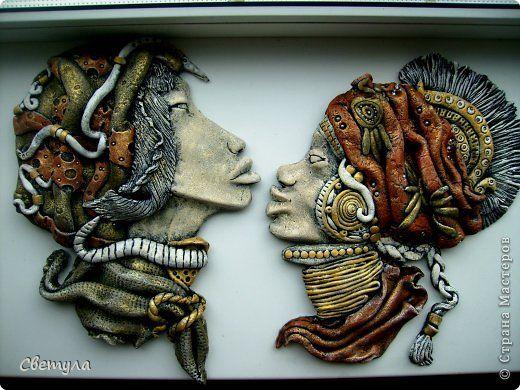 Картина панно рисунок Поделка изделие Скульптура Лепка Роспись Мой долгострой Краска Тесто соленое фото 1