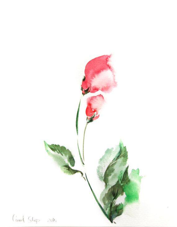 Illustrazione dell'acquerello floreale minimalista di CanotStop