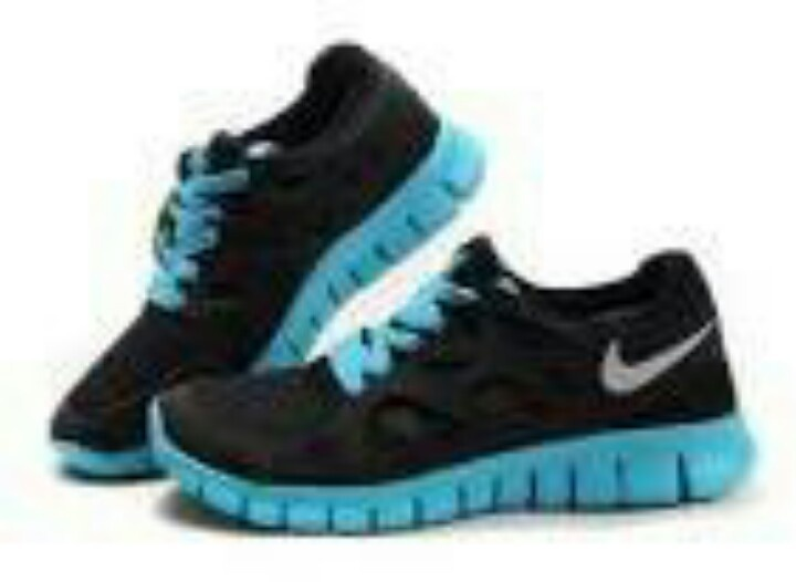 newest 5f406 d525e ... Nike Free Run 2 Black Blue Sneakers Womens Nike Frees Sneakers off ...
