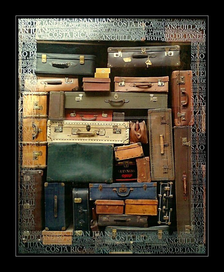suitcases - store window