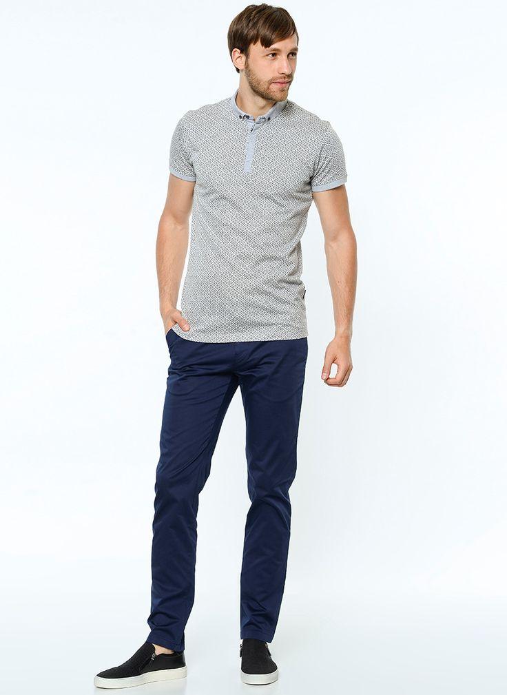 Купить Мужские брюки темно-синего цвета большого размера в интернет магазине мужской одежды OTOKODESIGN