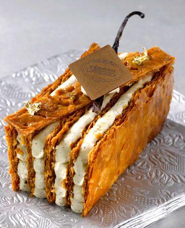 Emmanuel Ryon, renouveler les classiques de la pâtisserie: Millefeuille. LOVE it!!! Soooo gooood....