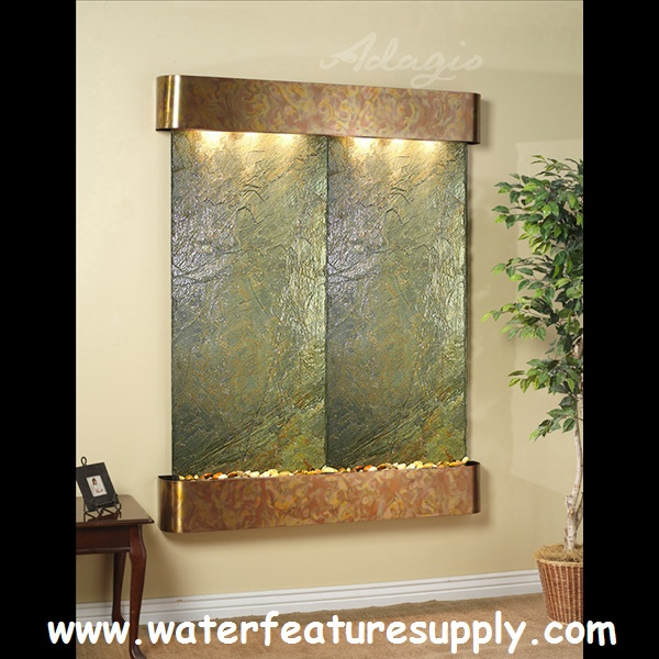How To Integrate Interior Wall Fountains In Your Home: 33 Best The Majestic River Wall Mounted Water Feature