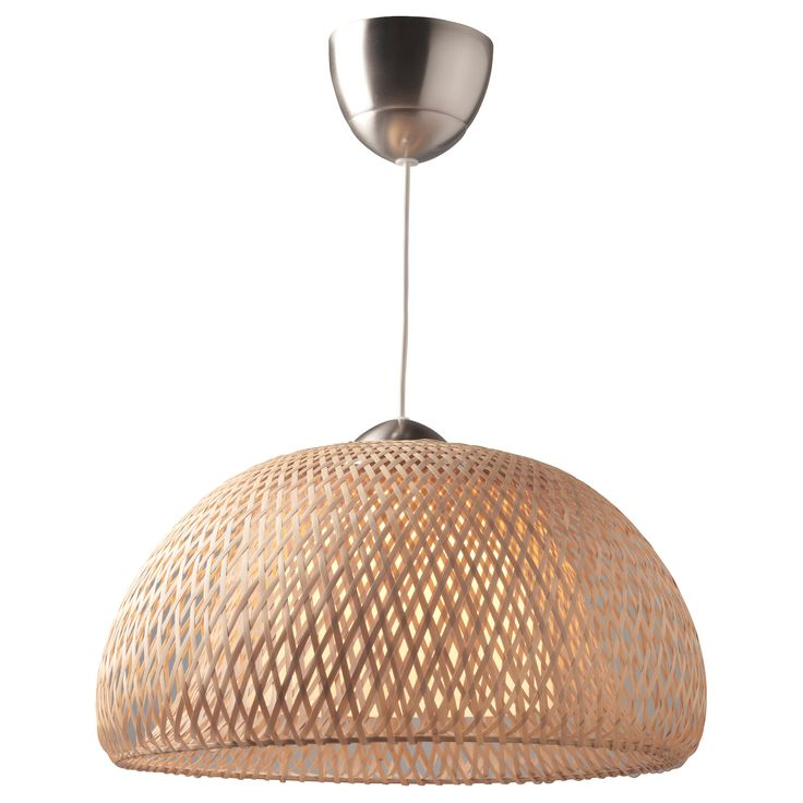 BÖJA Pendant lamp - IKEA - inexpensive, and would be great in the beach house $59.99 - and now that I have seen such great DIY tips on painting fixtures: how about trading in that chrome for coral or kiwi green?