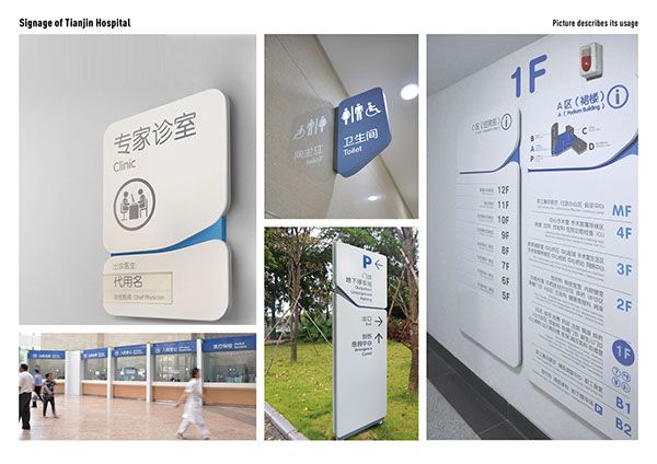 Signage&Wayfinding System of TIANJIN hospital on Behance