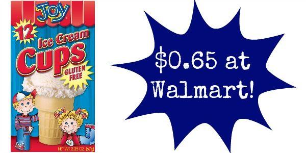 Walmart: Joy Ice Cream Cones Only $0.65!