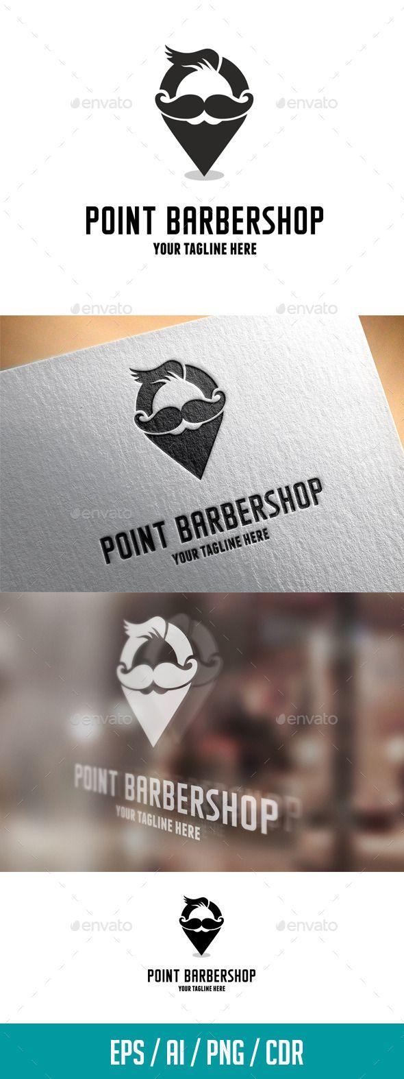point barbershop logo template logos logo templates and symbols. Black Bedroom Furniture Sets. Home Design Ideas