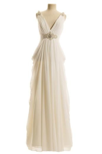 Grecian wedding dress with straps at couture bride for Greek style wedding dress