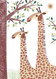 Giraffe card, lovehart.co.uk