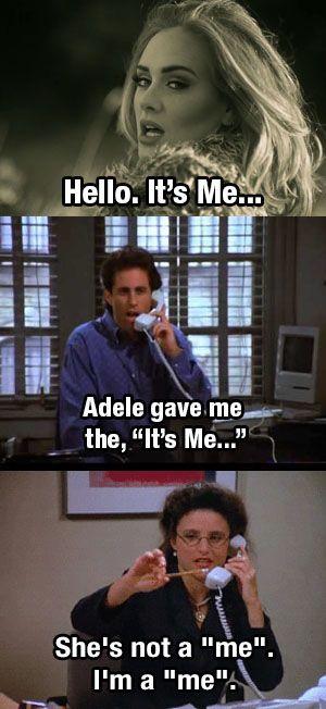 Adele. Hello. Seinfeld Mashup