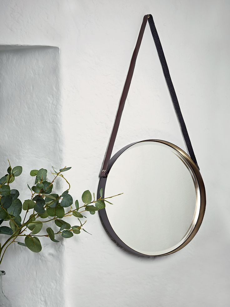 NEW Leather Strap Mirror - Mirrors