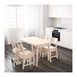 IKEA - NORRÅKER, Table, Durable and sturdy; meets the requirements on furniture for public use.Every table is unique, with varying grain pattern and natural color shifts that are part of the charm of wood.Rounded corners minimizes the risk of a child getting hurt.