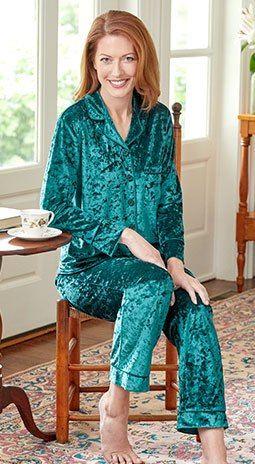 bbdd1982c Ella Simone Crushed Velvet Pajamas