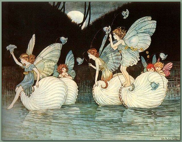 'Fairy Islands' from the book Elves and Fairies 1916 by Ida Rentoul Outhwaite Ida Rentoul Outhwaite (1888–1960) Australian illustrator of children's books.