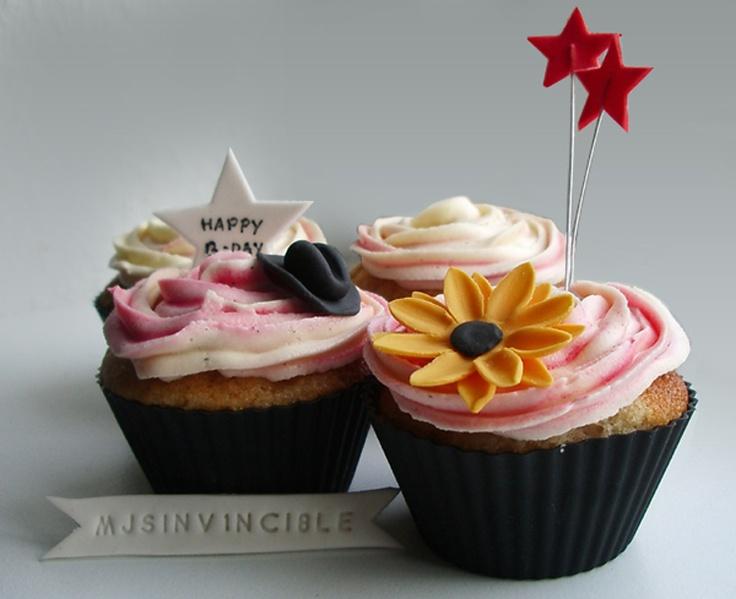 Michael Jackson celebration cupcakes