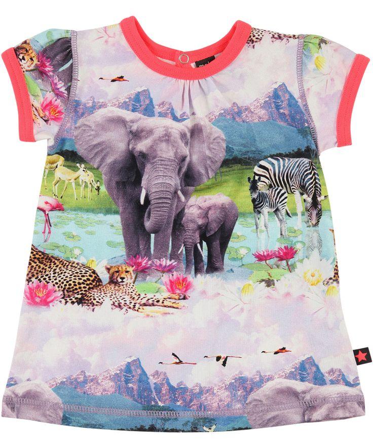 Molo Wonderful Baby Dress With Beach Safari Print. molo.en.emilea.be