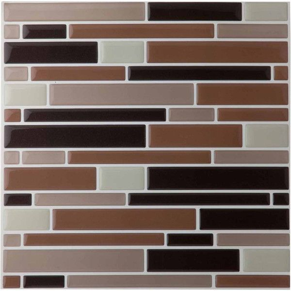 Magic Gel Beige 9.125X9.125 Self Adhesive Vinyl Wall Tile ($8.69) ❤ liked on Polyvore featuring home and home improvement