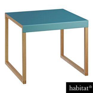 habitat kilo opal blue metal side table from. Black Bedroom Furniture Sets. Home Design Ideas