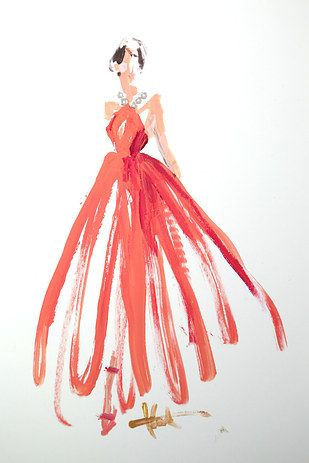 "Rodgers told BuzzFeed Life that she, ""stepped outside of my normal process with a brush. I love experimenting with different mediums and methods."" 