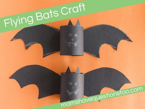 Flying Bats Craft. Includes printable template and instructions.