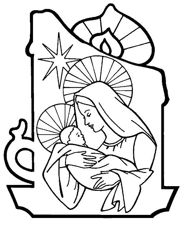 More Nativity Coloring Pages Coloringbookfun Christmas