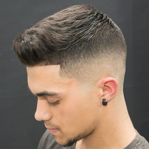 Medium Bald Fade with Crew Cut